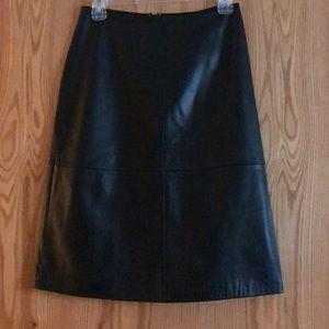 Gap (vintage 1999) Soft leather skirt